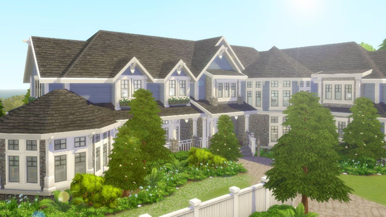 Lakeview Mansion The Sims 4 Speed Build Youtube Sims House Design Sims 4 Mansions