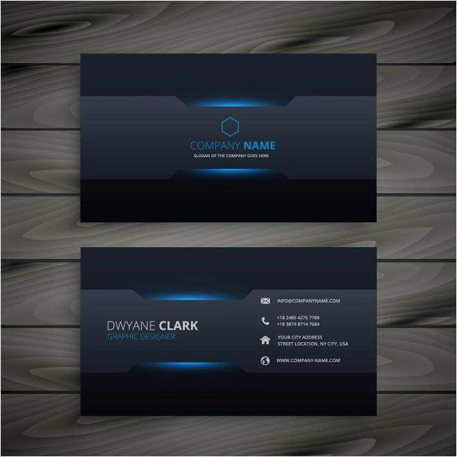 Free Vector Dwyane Clark Business Cards Cgvector