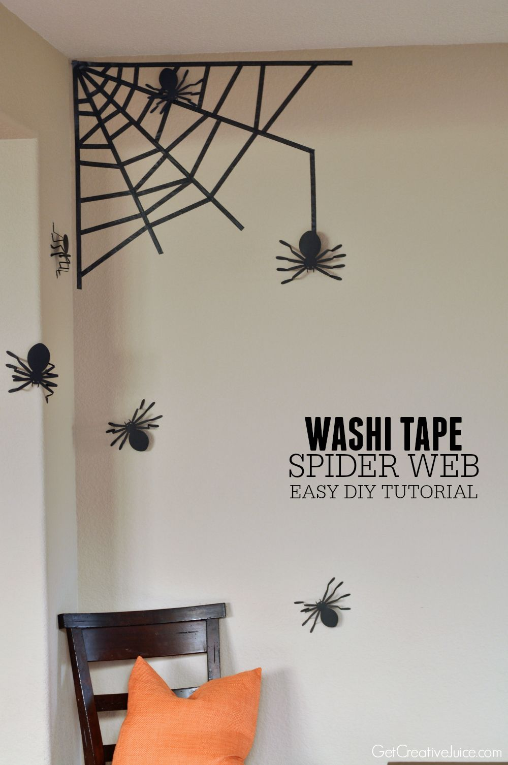 Washi tape spider web for your wall easy diy tutorial washi tape spider web for your wall easy diy tutorial amipublicfo Choice Image