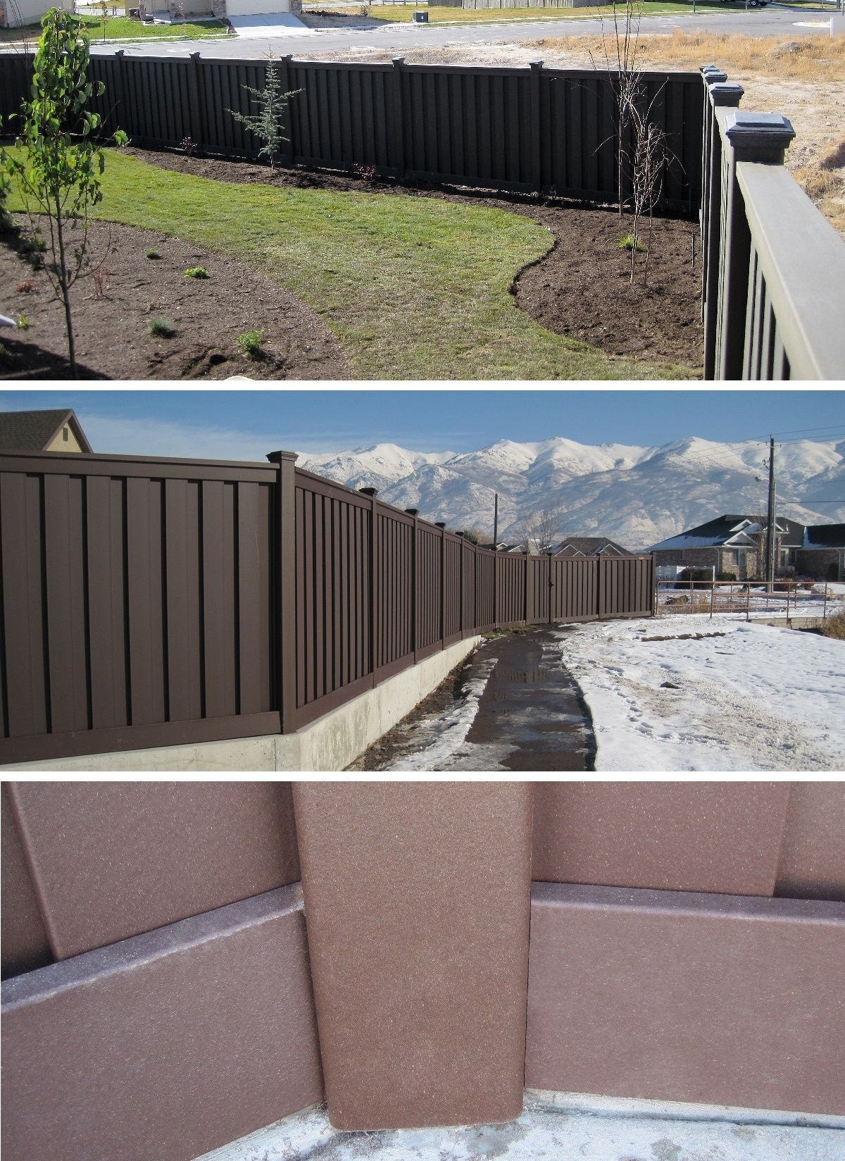 Use Angle Adaptors For Fences That Don T Make 90 Degree Turns Trexfencing Wood Vinyl Trex Fencing Fence Design