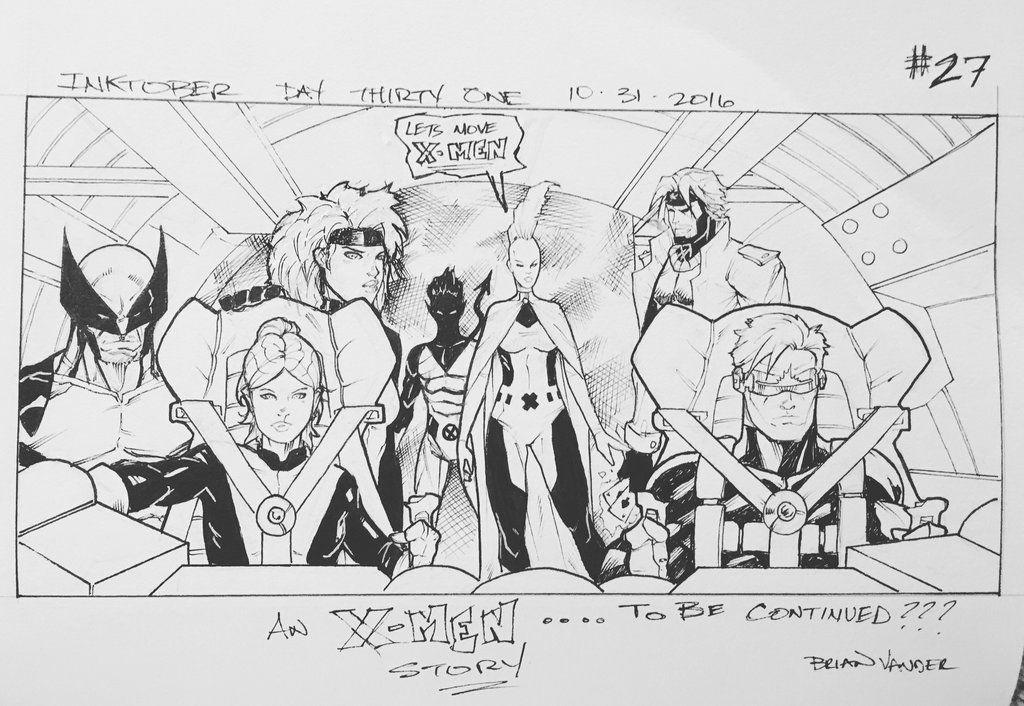 Inktober 2016 Day 31 X-Men story panel 27 by BrianVander on DeviantArt