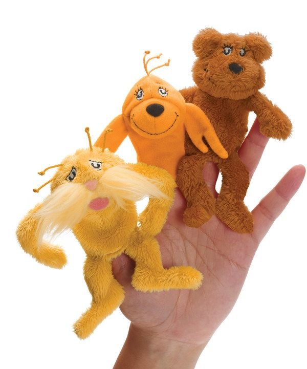 Look at this Lorax Finger Puppet Set on #zulily today!