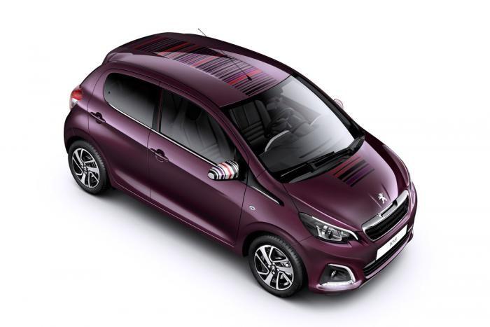 Peugeot 108 Purple Roof City Car Peugeot Car