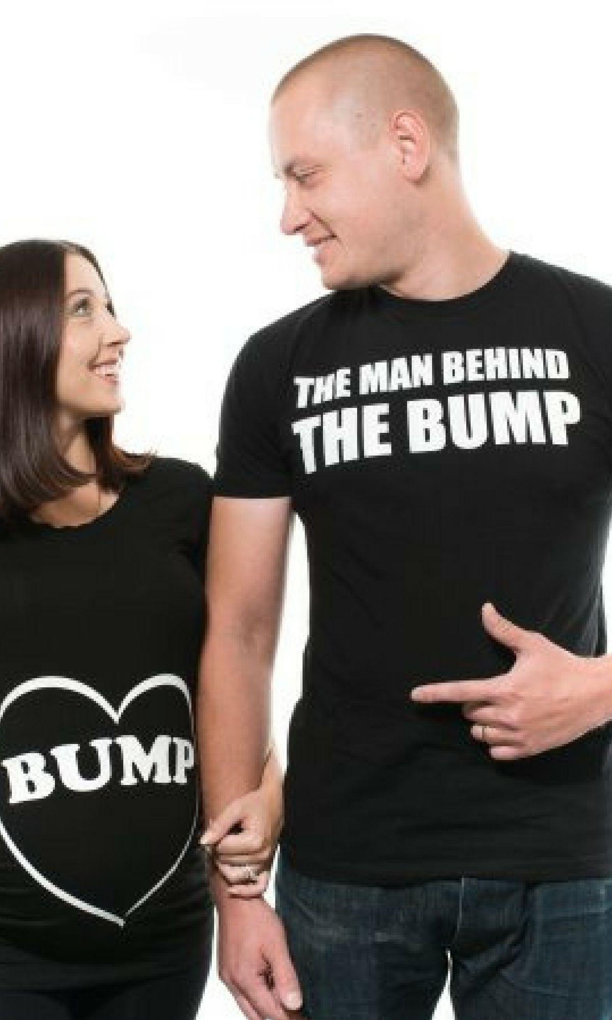 75c728bc Couple matching Bump Shirts dad Maternity mom Maternity Couple shirts  Pregnancy Tee shirt Top mens Shirt New mom and dad tees Men Large - Women  Medium ...