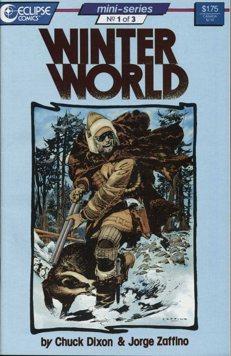 Comic Book - Eclipse Comics - Winter World No.1 of 3 Mini-series by Chuck Dixon & Jorge Zaffino. September, 1987 #chuckdixon #comicbooks #comics