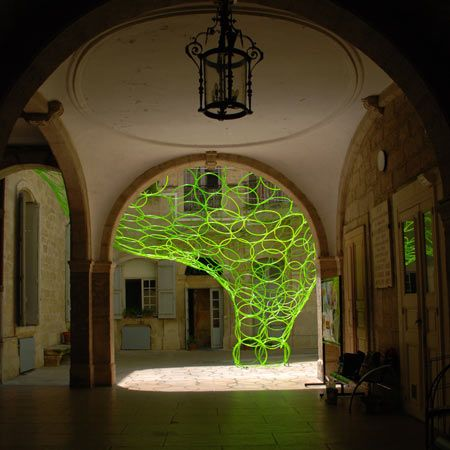 """I'm a big fan of the Qui est """"in"""", Qui est """"out"""" installation by Yes We Can Architects.  #installation #hula-hoops #SergeGainsbourg"""
