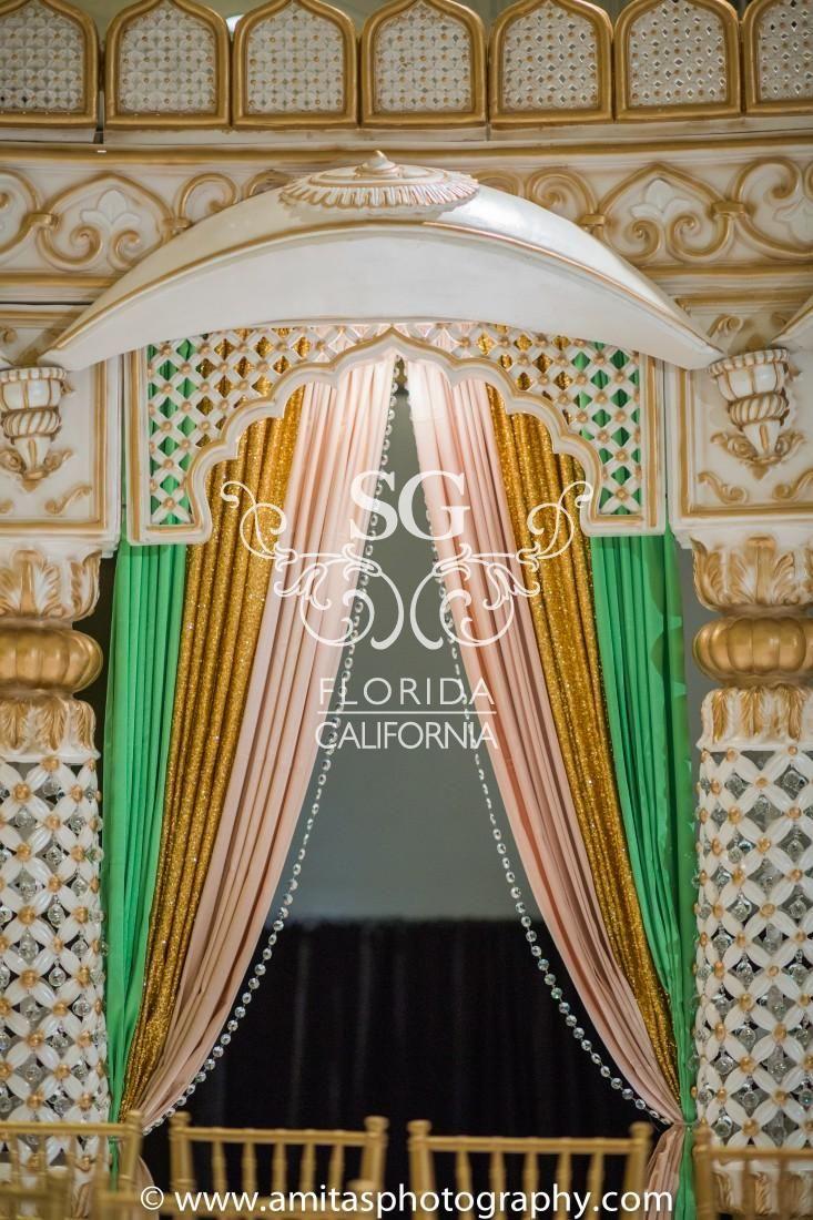Wedding mandap decoration images  Amita S Photography Kavita and Saharsh Hilton Tampa Downtown