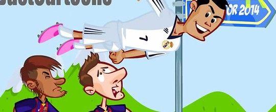 """Na corrida pelo prêmio, CR7 vira<br />""""the flash"""" contra Neymar e Messi"""