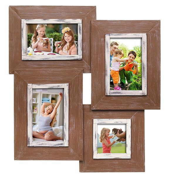 GANZ Wood Collage Four Frame (39 CAD) ❤ liked on Polyvore featuring ...