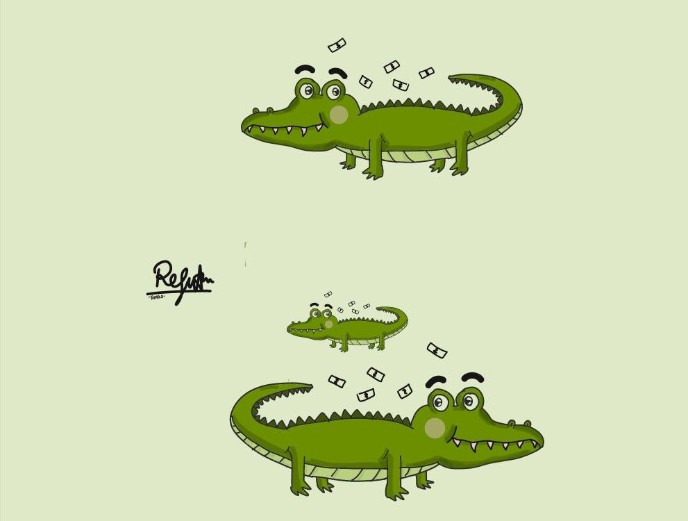 Buaya Kartunbuaya Art Digitalart Crocodile Kartun Binatang Buas Lucu
