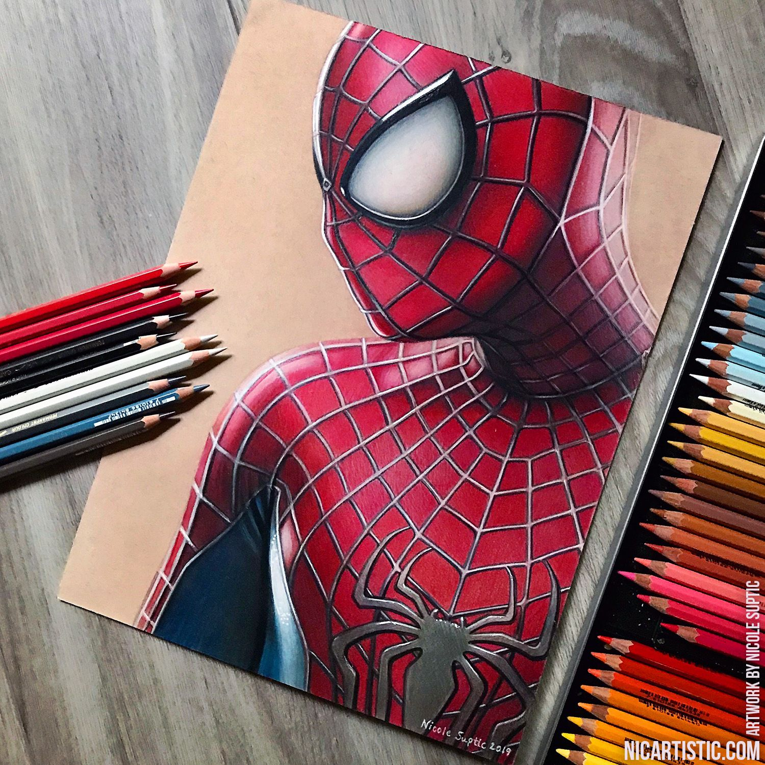 Spiderman Drawing In Colored Pencil Spiderman Drawing Spiderman Art Spiderman