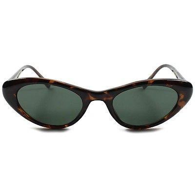d7f57f5de2 Old Fashioned Vintage Womens Small Havana Rockabilly Cat Eye Sunglasses B93