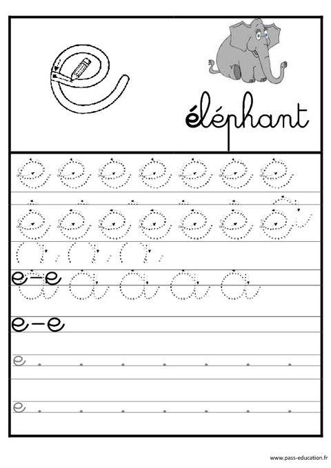 Lettres de l 39 alphabet en cursive ecriture maternelle - Lettres alphabet maternelle ...