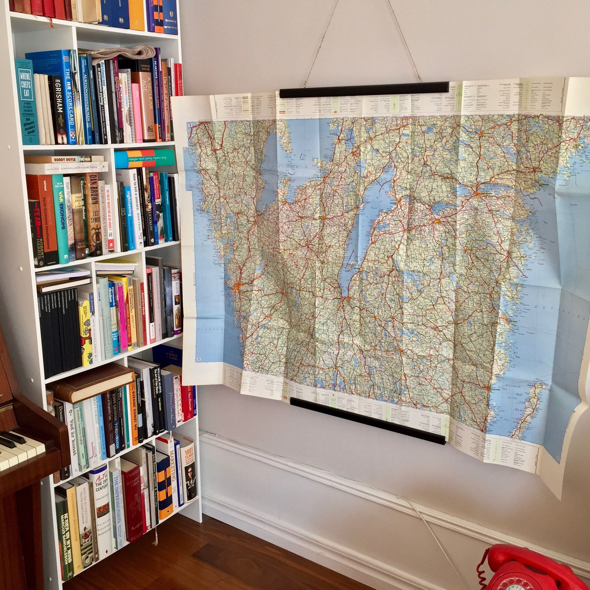 A Big Retro Tourist Road Map Of Sweden From By AgathaWar On - Sweden big map