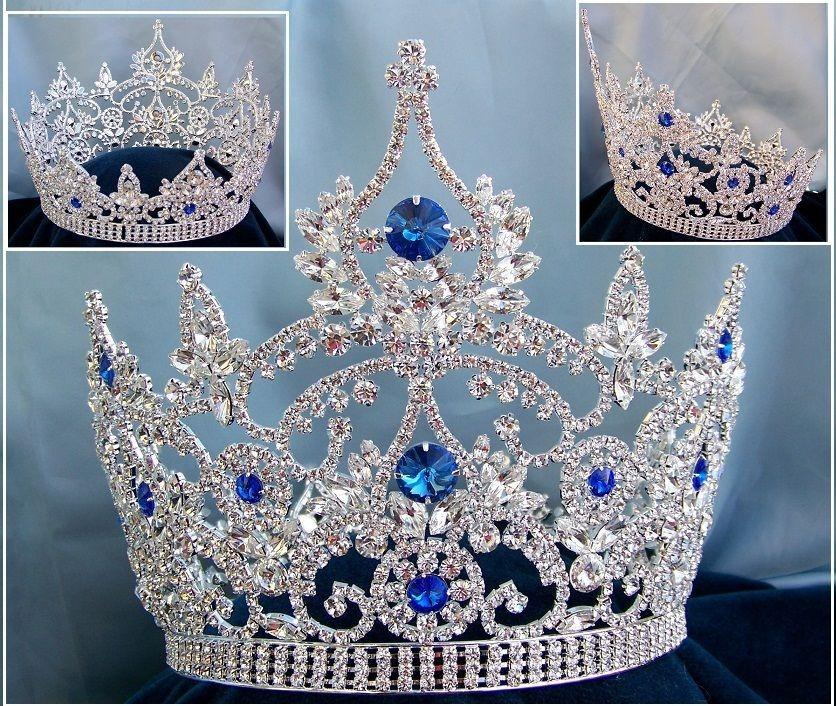 Silver Metallic Plated Jewelled Queen/'s Tiara Adjustable Queen Princess Crown