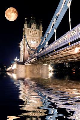 London, United Kingdom -- Full Moon