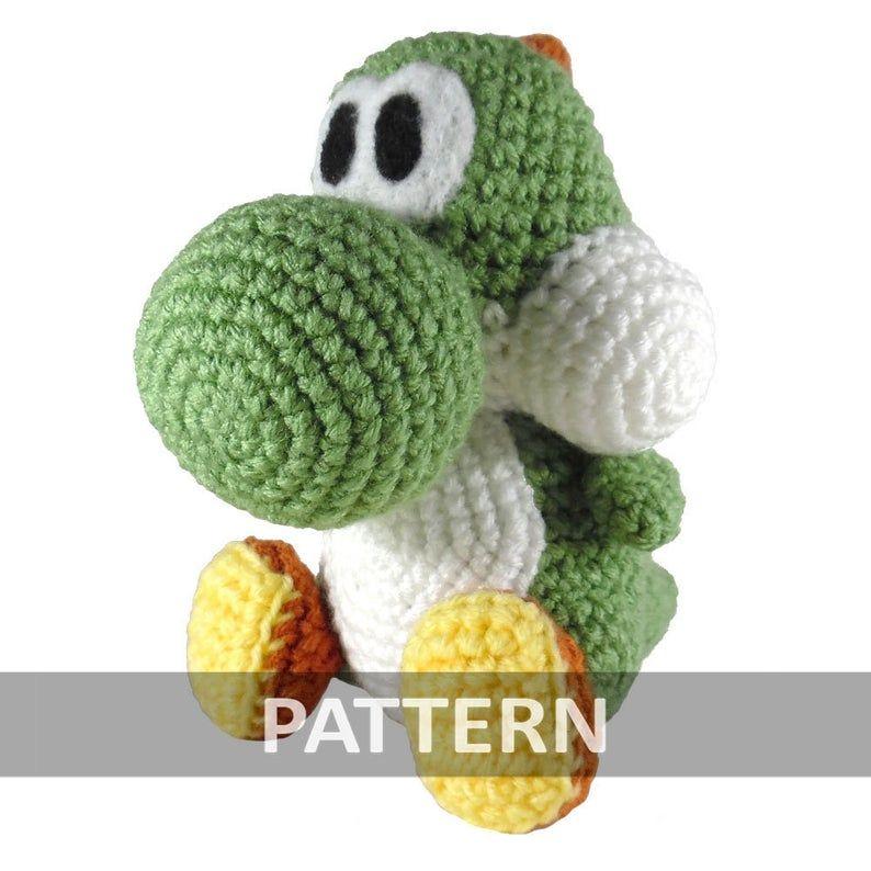 Yoshi amigurumi ganchillo tejido muñeco crochet de segunda mano ... | 794x794