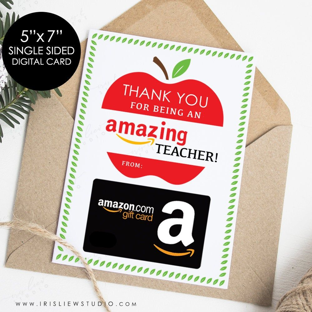 Thank You For Being An Amazing Teacher Cardprintable Amazon Etsy In 2021 Coffee Gifts Card Teacher Cards Digital Gift Card