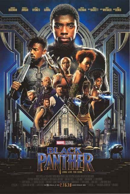 Black Panther Marvel Comics Movie Poster 24x36 Black Panther