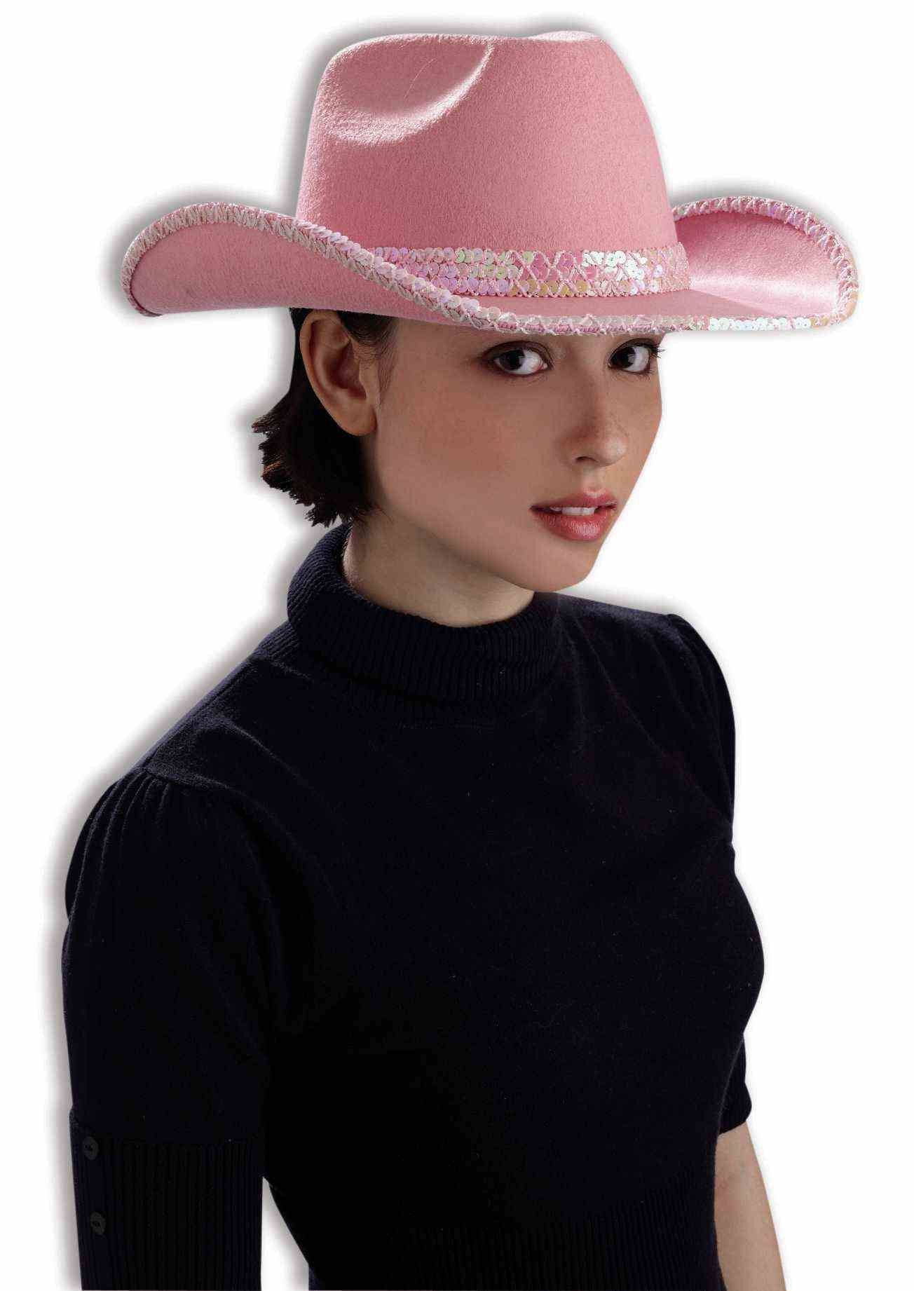 12ca85b5fc1e9 Deluxe Pink Cowgirl Hat with Sequins