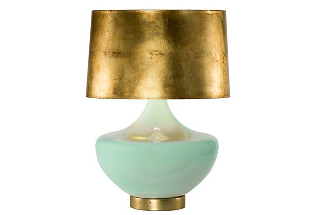 Exclusive Arden Table Lamp, Seaglass | One Kings Lane