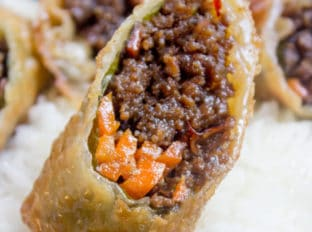 Korean Egg Roll Ground Beef Egg Roll Dinner Then Dessert Egg Rolls Egg Roll Recipes Appetizer Recipes