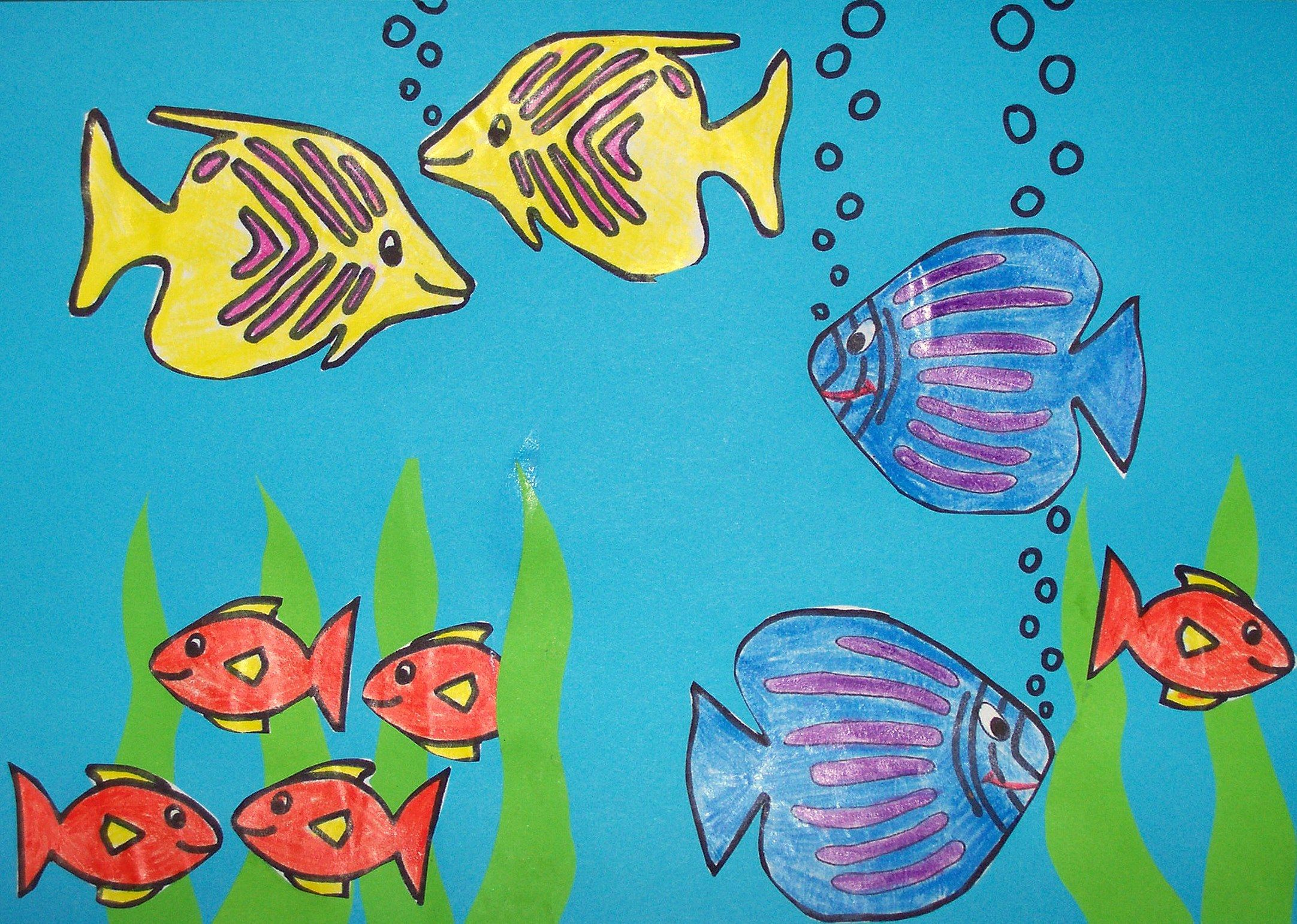 Underwater drawing for kids images for Fish scenery drawing