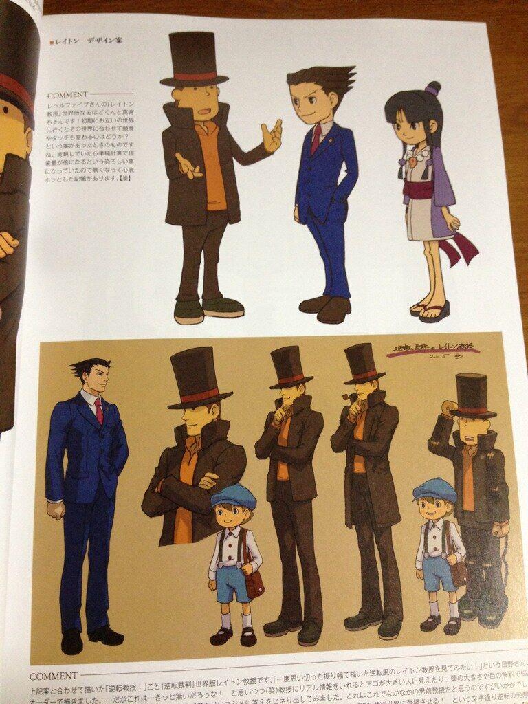 Character Designs Professor Layton Vs Phoenix Wright