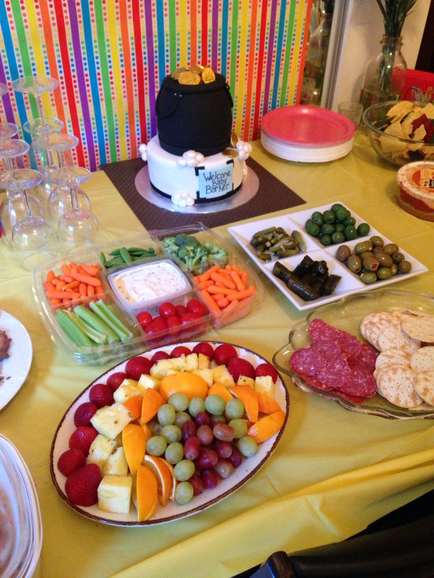 rainbow baby shower food table rainbow baby shower pinterest