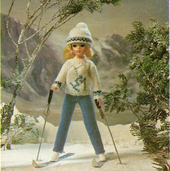 Sindy Dolls Clothes Knitting Pattern Ski Outfit Sweater Trousers