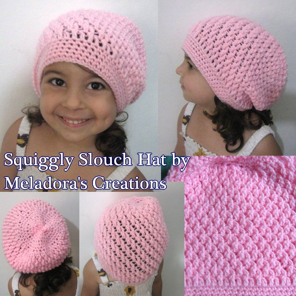Squiggly Slouch Hat - Free Crochet Pattern | Slouch hats, Free ...