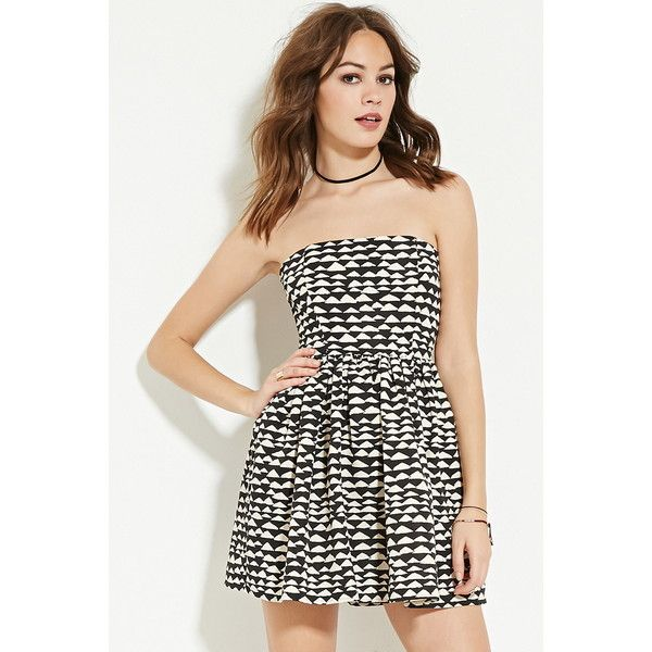 d1b395aad8 Forever 21 Women s Abstract Fit   Flare Dress ( 23) ❤ liked on Polyvore  featuring