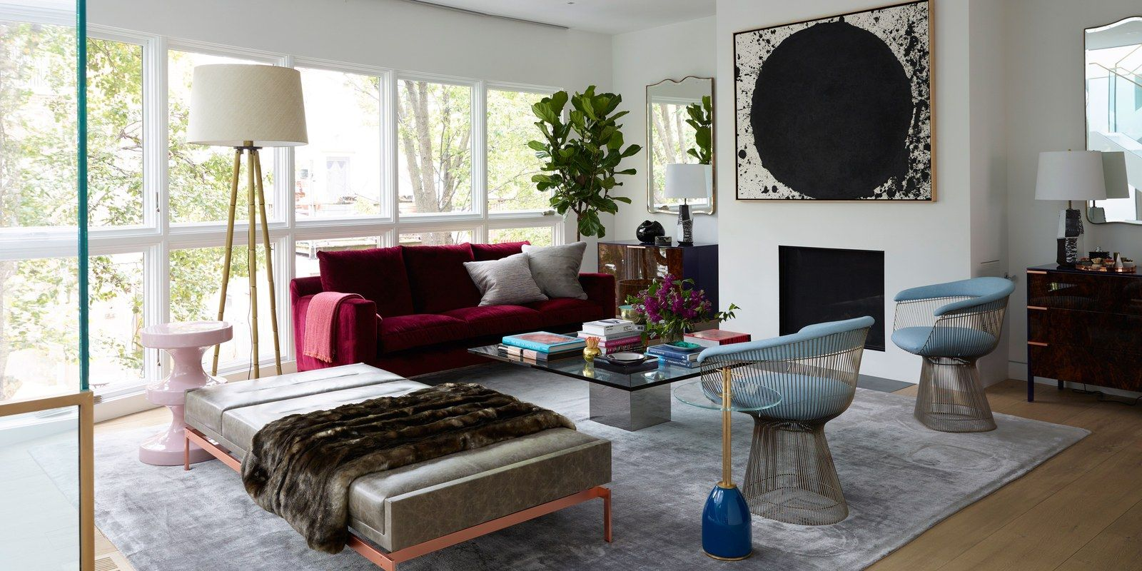 Every Inch of This Polished Philadelphia Townhouse Is Highly Customized is part of Living Room Couch Red - Interior designer Mona Ross Berman began with a blank slate and filled this Society Hill home with bespoke touches