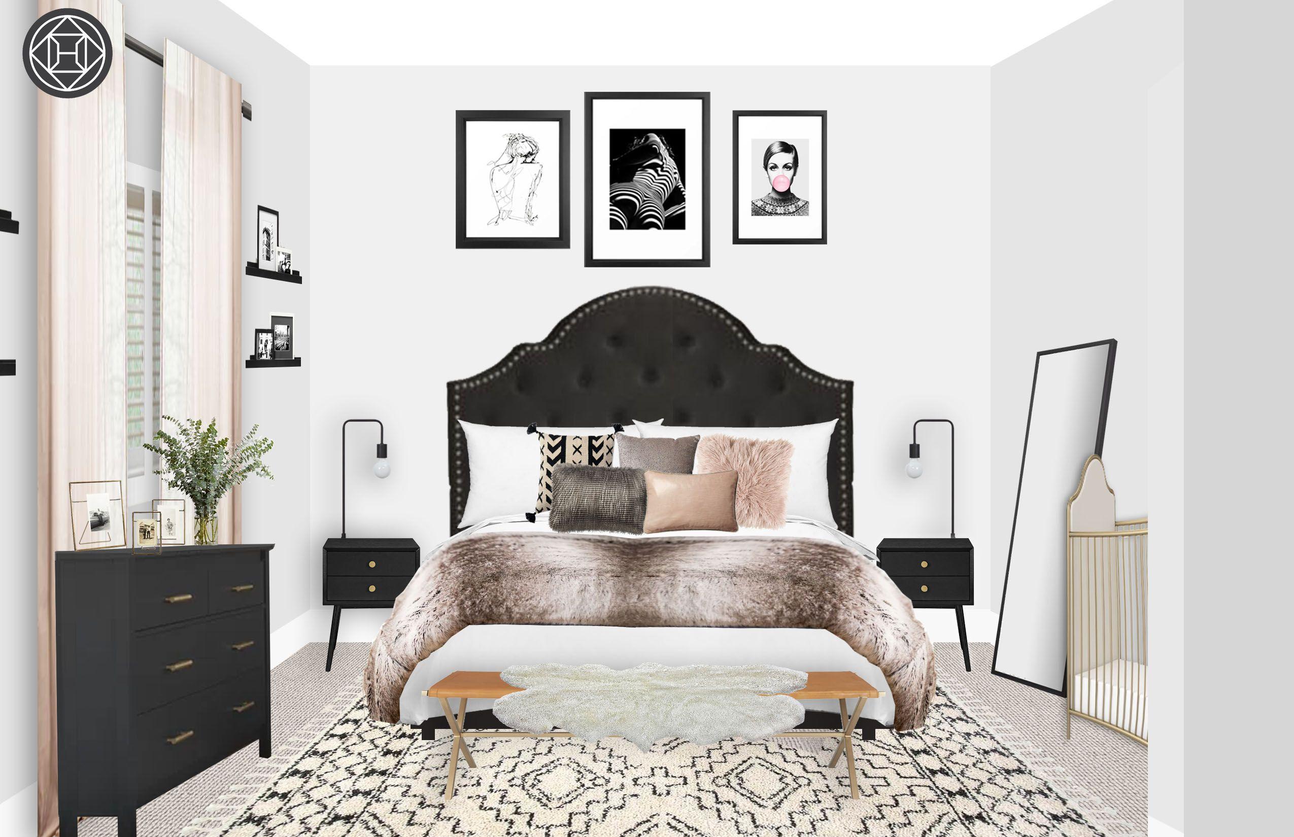 Best Modern Glam Midcentury Modern Scandinavian Bedroom 640 x 480