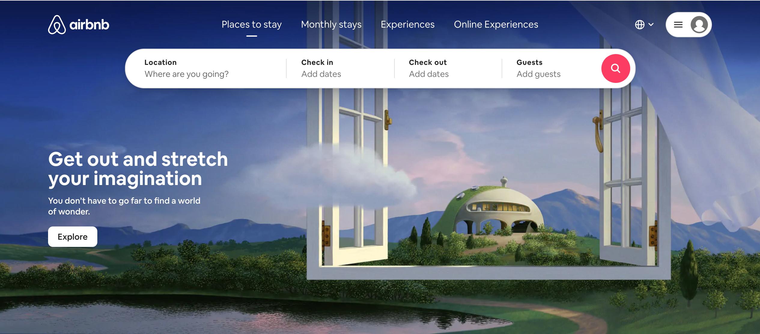 Airbnb User Interface Landing Page In 2020 Homepage Design Wellness Design Software Development