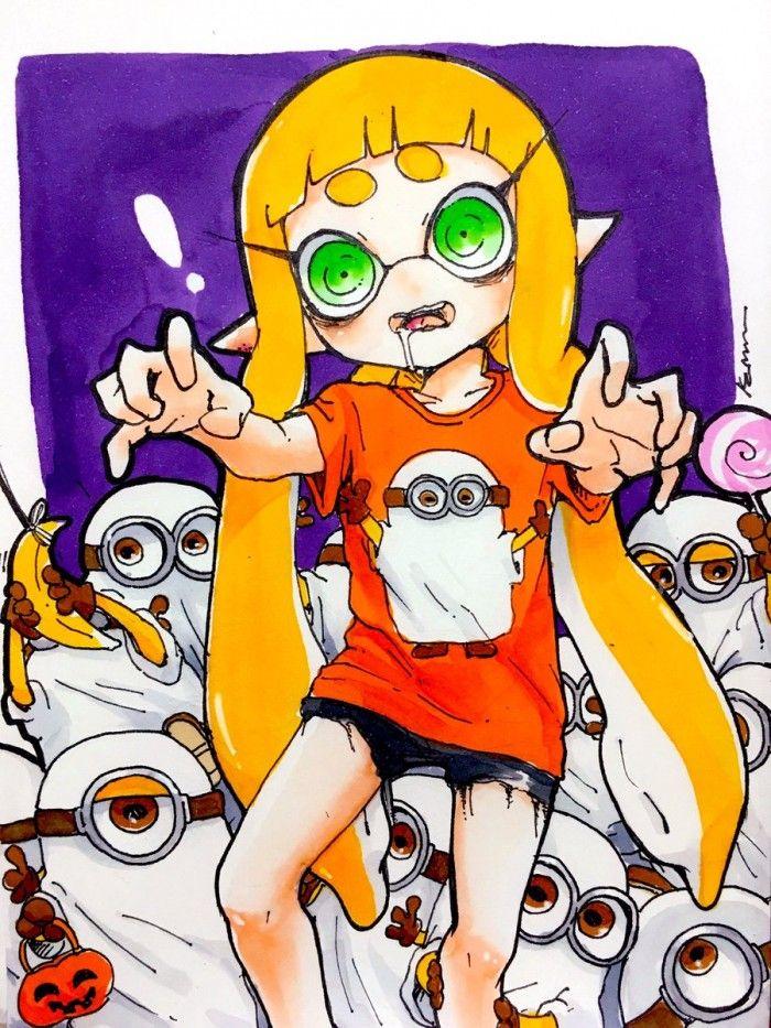 Coloriage Halloween Dessin Splatoon X Les Minions Aux