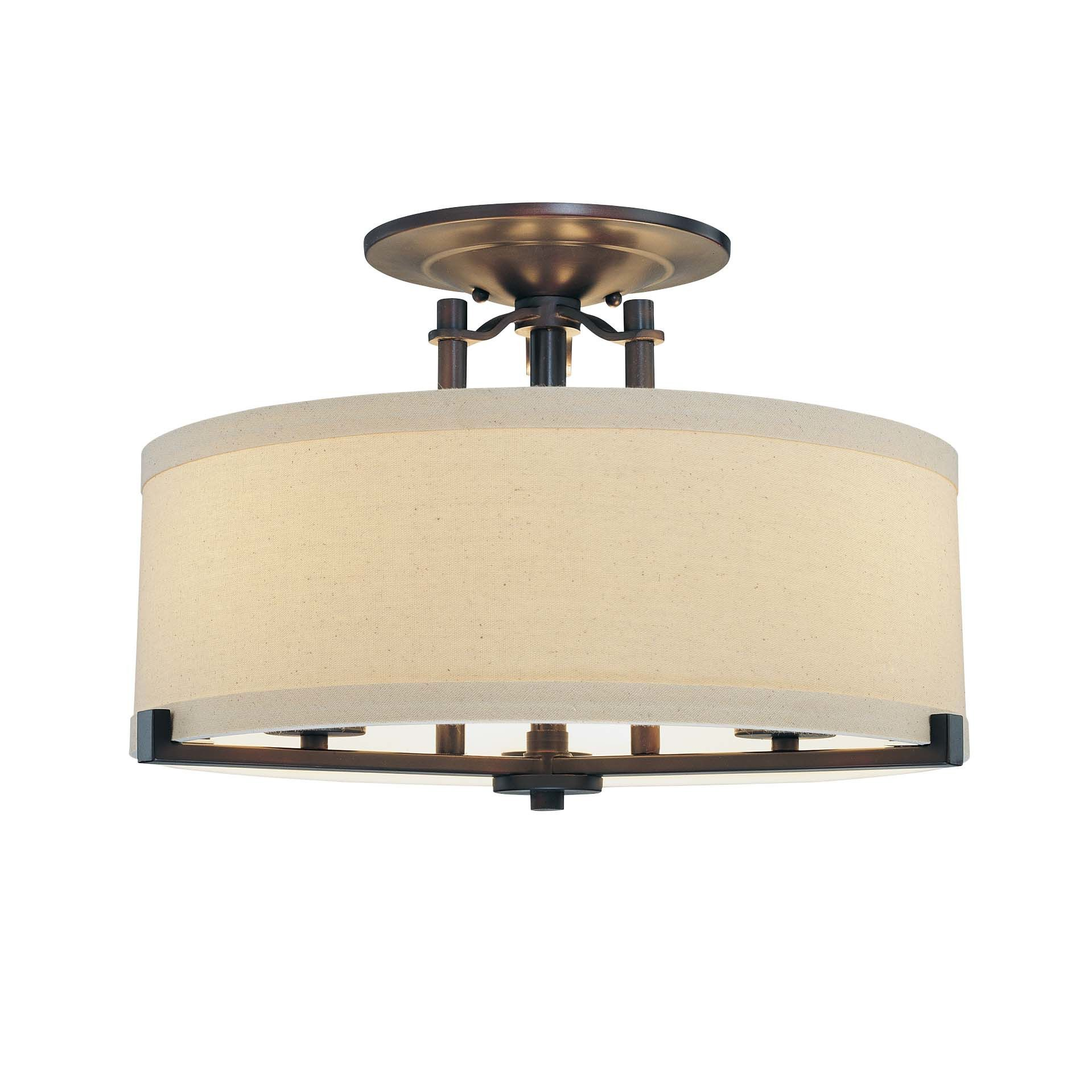Minka Lavery Ansmith 3 Light Semi Flush Mount
