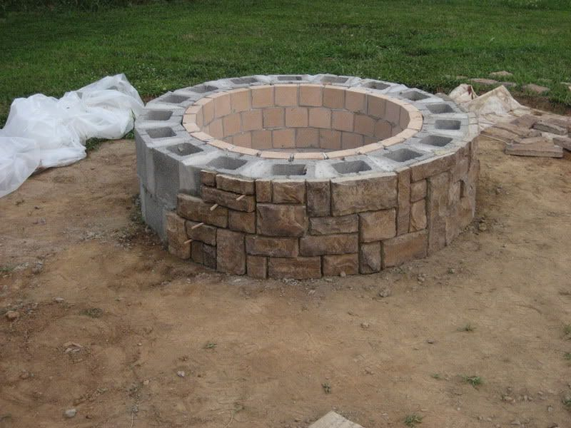 Do Veneer Like This Great Forum Thread On Firepit Building Stone Veneer Firepit Project Showcas Fire Pit Landscaping Gazebo With Fire Pit Fire Pit Backyard