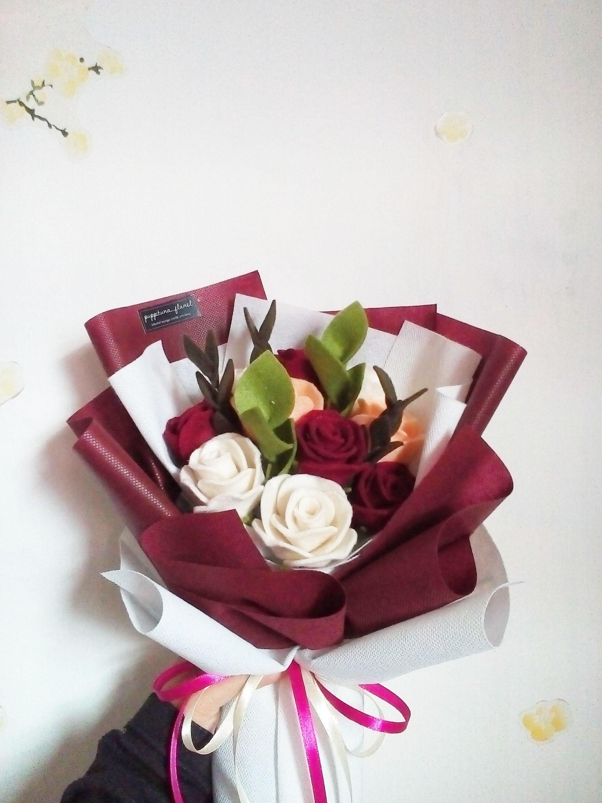 Roses Flow Di 2021 Buket Bunga Bunga Kain Kreatif