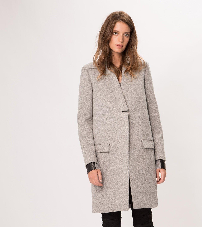 maje KLINTON Straight Fit Wool Coat at Maje US   Fashion ...