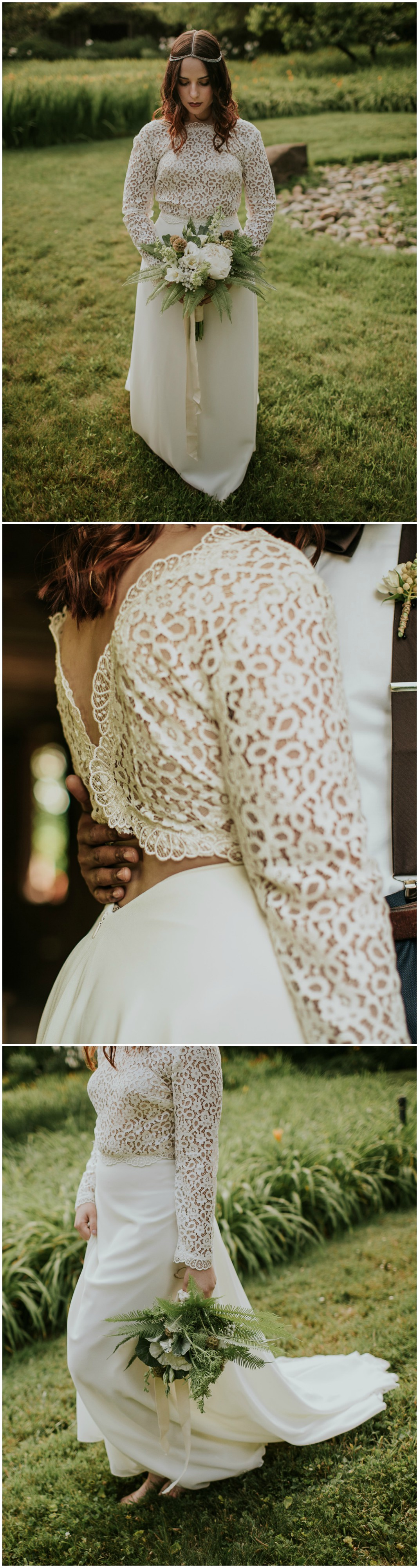 Wedding dress images  Natural Alfresco Styled Shoot  Philo CA  Vintage bridal Lace