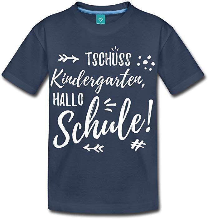 spreadshirt einschulung tschüss kindergarten hallo schule