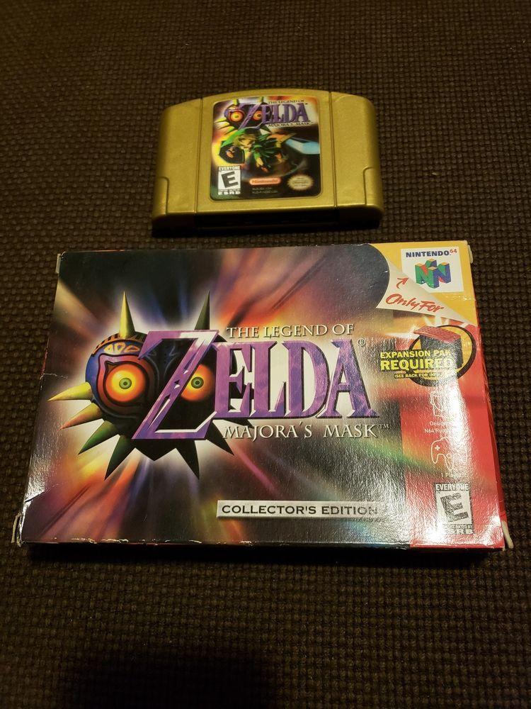 Legend Of Zelda Majora S Mask Nintendo 64 2000 Collectors Edition Ce Majoras Mask Majoras Legend Of Zelda