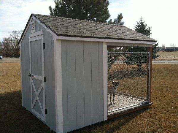 Dog Kennels With Insulated Dog House - Storage Sheds Barns Shops Garages | Idaho Wood Sheds & Dog Kennels With Insulated Dog House - Storage Sheds Barns Shops ...