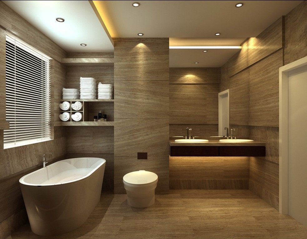 bathroom design with tub floor tile toilet by - Hotel Bathroom Design