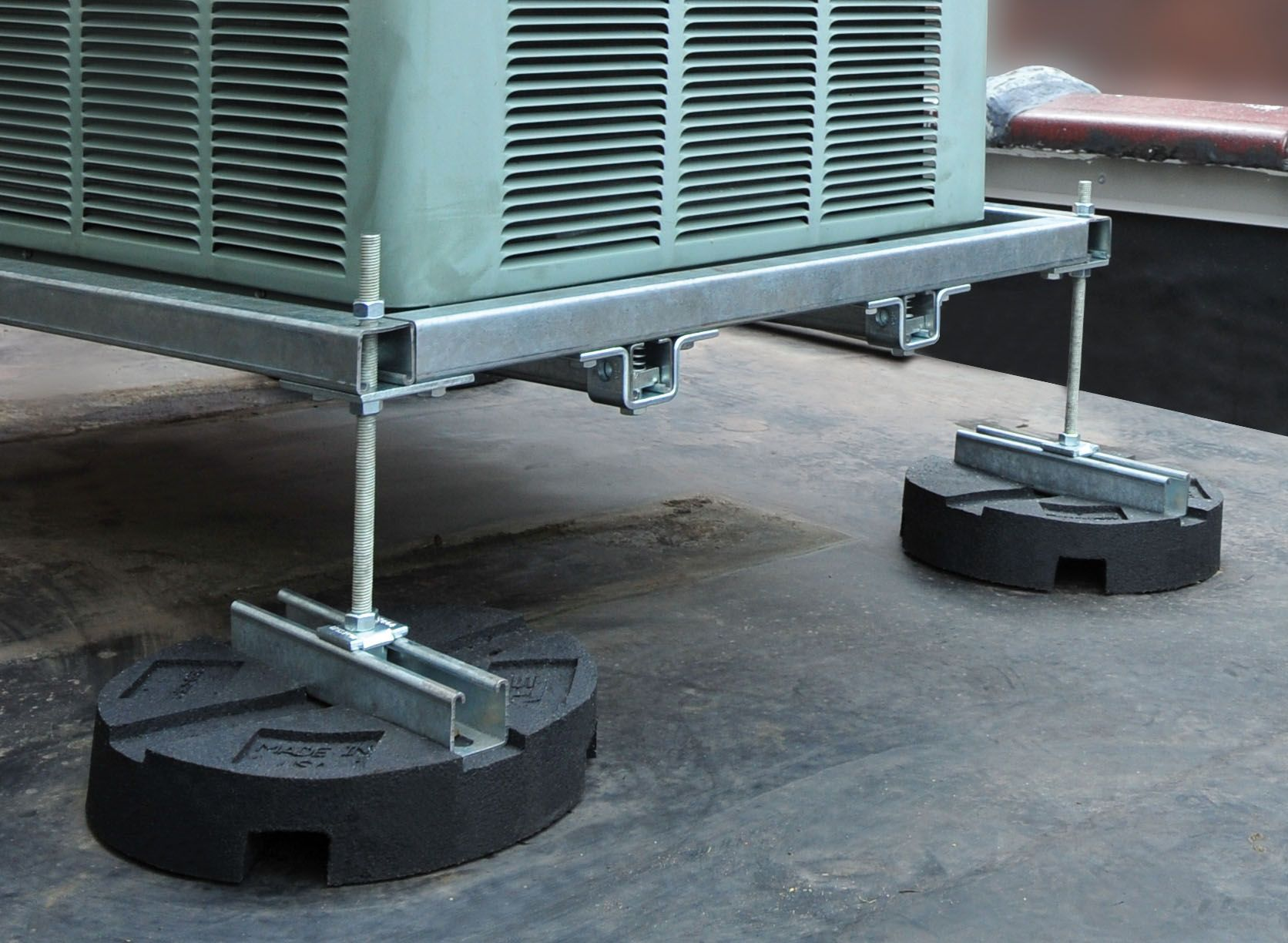 Rooftop Equipment Supports For Light To Heavy Duty Applications Hvac Contractor Hvac Rooftop