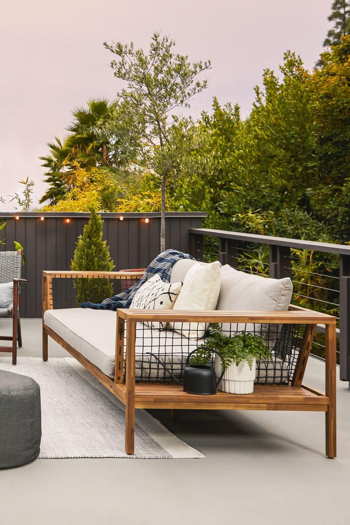 Callais Taupe Gray Outdoor Sofa Modern Design In 2020 Outdoor Sofa Modern Outdoor Sofas Outdoor Sofa Diy