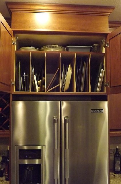 Above Refrigerator Cabinet Revisited Refrigerator Cabinet Above Cabinets Kitchen Remodel
