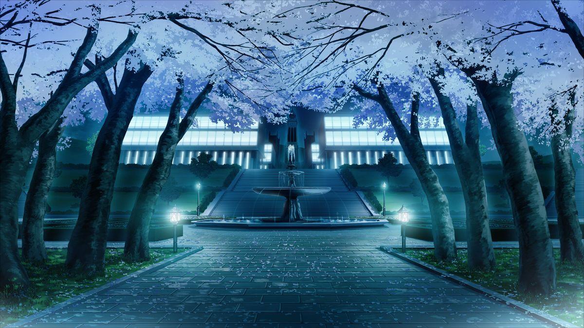Fuente de noche Anime scenery, Scenery background, Anime