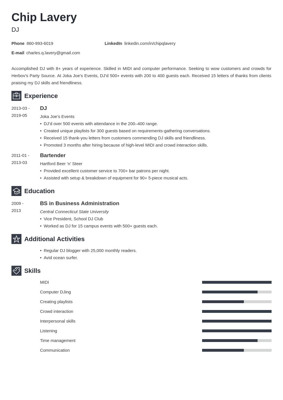 Dj Resume Example Template Newcast Job Resume Examples Resume Examples Resume Layout